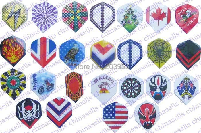 12pcs Electronic Dart Flag Flights Material Imports PET