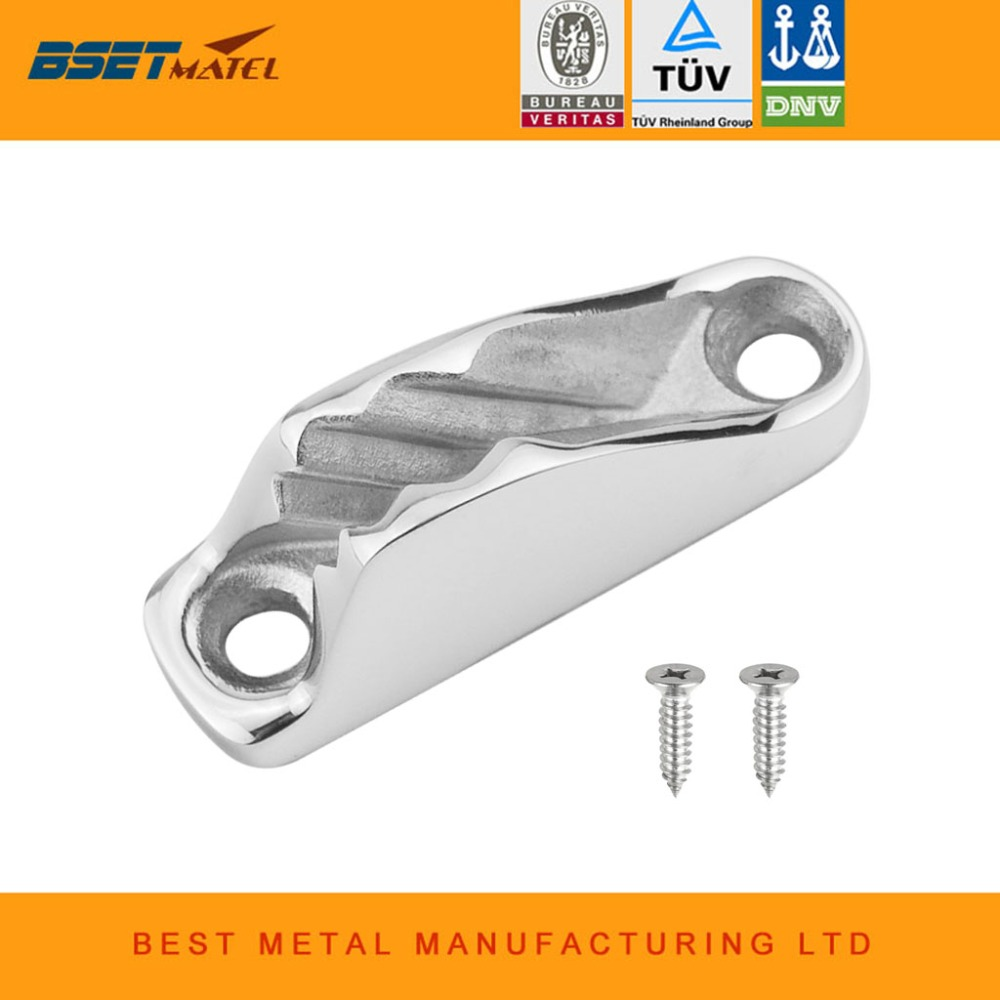 Durable 316 Stainless Steel Boat Clam Cleat Rope Cleat Jam Cleat line cleat Boat Parts Hardware Sailing Kayak marine Accessories