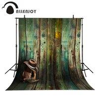 Studio Background Baby Cowboy Hat Cowboy Boots Wood Wallpaper Photo Background 5x7ft 150x220cm