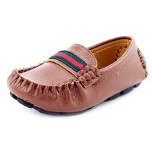 2017 весной и осенью бренд дети shoes мужской женский ребенок один shoes ребенок Мокасины мода кожа