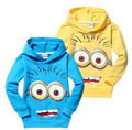 1pcs/lot 2016 despicable me 2 minion boys clothes, girls nova shirts, child Spring hoodies Tops & Tee