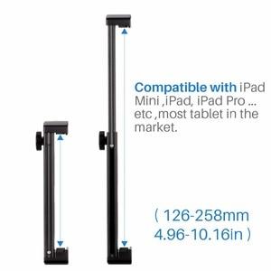 Image 3 - Ulanzi U Pad Pro Aluminium Tablet Statief Mount Houder Klem W Koud Schoen Voor Ipad Pro Ipad Mini Air huawei Pc Naar Boya BY MM1 Mic