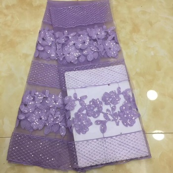 Madison Latest Nigerian Laces Fabrics 2019 High Quality African Laces Fabric For Wedding Dress French Tulle Lace With Sequins