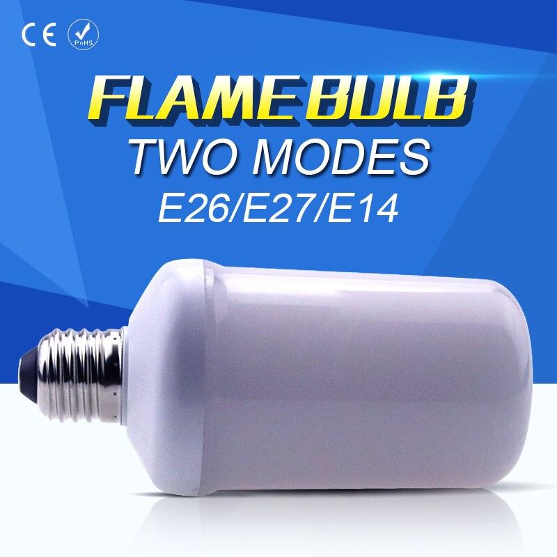 99leds LED Lamp Flame Bulb E27 AC85-265V E14 Simulation Flicker Flame Lamp LED Light Easter Energy saving Decoration Bulb E26