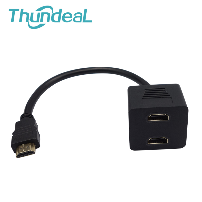 HDMI 2 to 1 Out Switch Cable Male to Female M/F 2 in 1 out Adapter Converter Magnetic Lmmunity Monitor Gameplayer Not Splitter