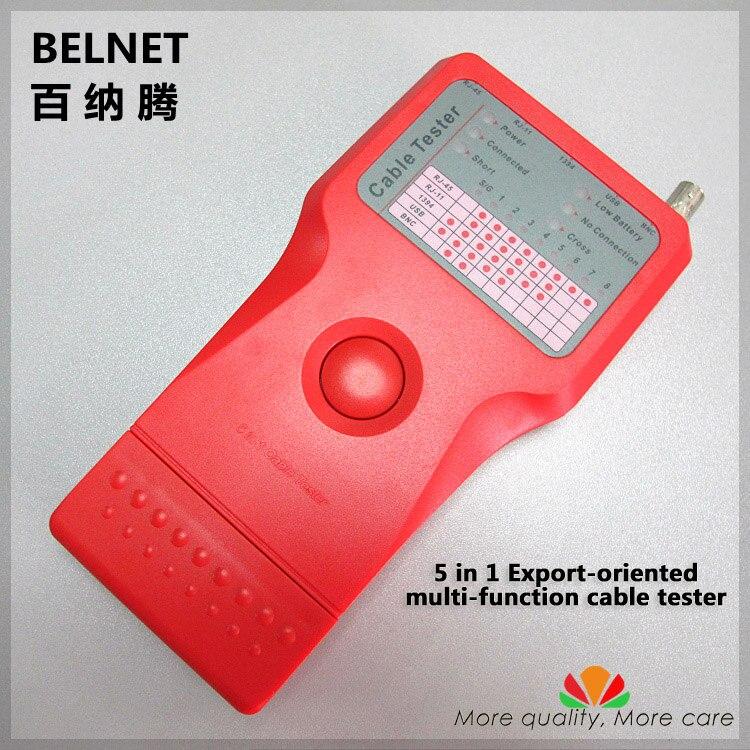 Orientée vers l'exportation HQ 5-en-1 1394 USB RJ45 RJ11 BNC multi-fonction câble testeur pour RPRS Réseau Coaxial ethernet câble de mesure