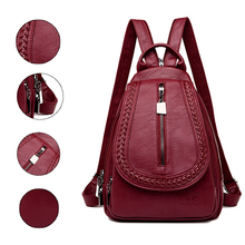 Women Leather Backpacks Classic Female Chest Bag Sac a Dos Travel Ladies Bagpack Mochilas School Bags For Trrnage Girls Preppy 2019 classic women leather backpacks for girls sac a dos female backpack college travel bagpack ladies back pack mochilas girl