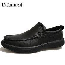 864f1fbf120ff Chaussures hommes en cuir de casual chaussures fond mou met le pied en  personnes âgées père chaussures peau de vache automne hiv.
