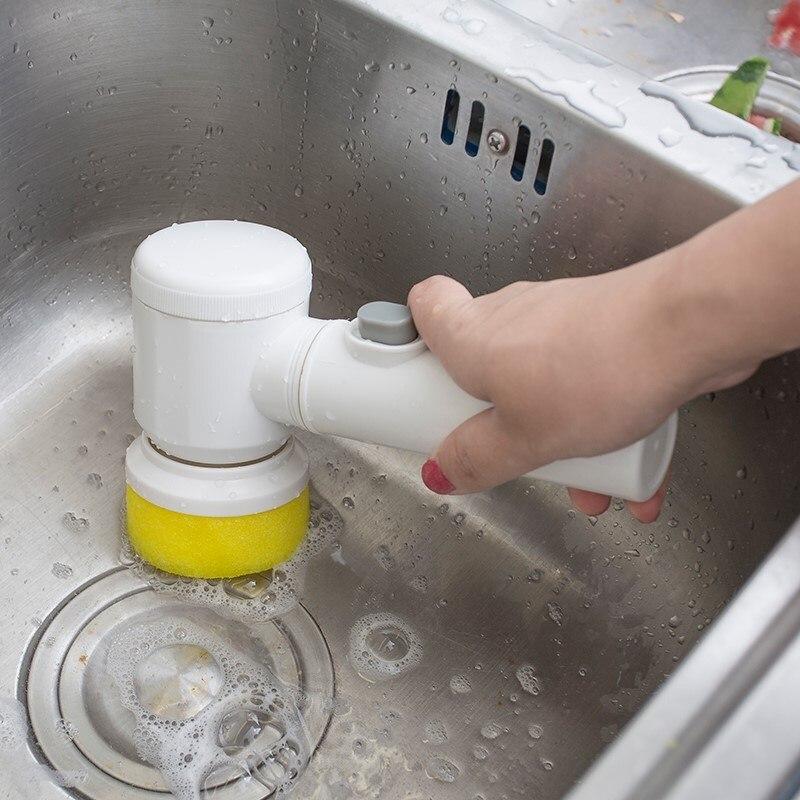 Herramienta De Limpieza Eléctrica De Mano De Cepillo De Limpieza Para Azulejos Y Bañera De Baño Utensilios De Lavado De Cocina Para El Hogar Utensilios De Baño Discapacidades Estructurales