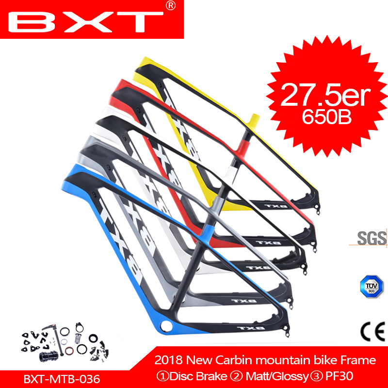 BXT mountain bike 27 5er bicycles Frame 2017 China new Carbon mtb axis frames carbon mtb