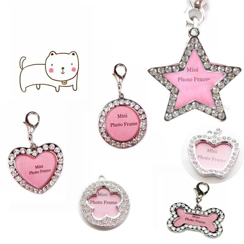2 unids/lote Envío texto grabado Personalizado etiquetas de identificación de mascotas perro gato collares
