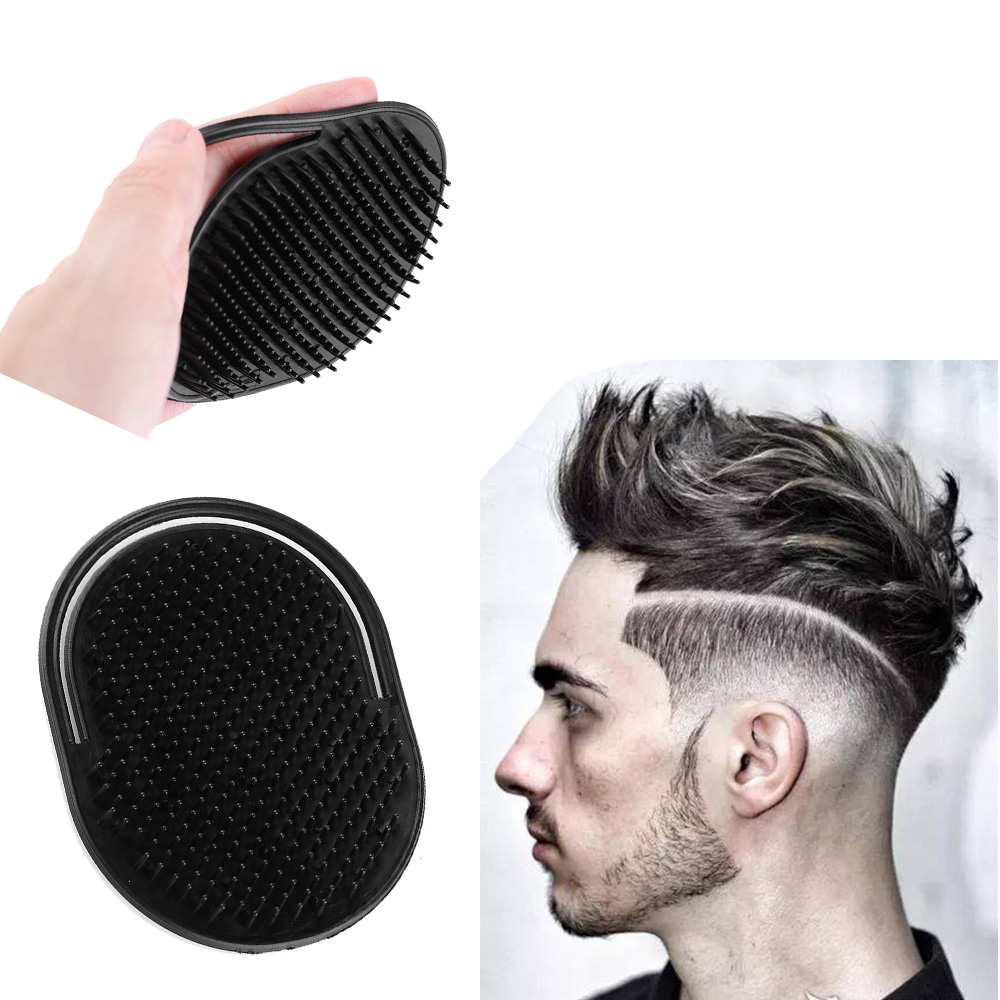 1 PCS Shampoo Comb Pocket Men Beard Mustache Palm Scalp Massage Black Hair Care Travel Portable Hair Comb Brush Styling Tools 5