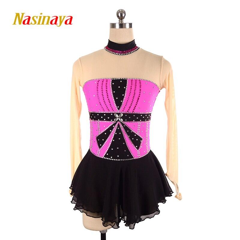 Nasinaya robe de patinage artistique concours personnalisé jupe de patinage sur glace pour fille femmes enfants Patinaje gymnastique Performance 93
