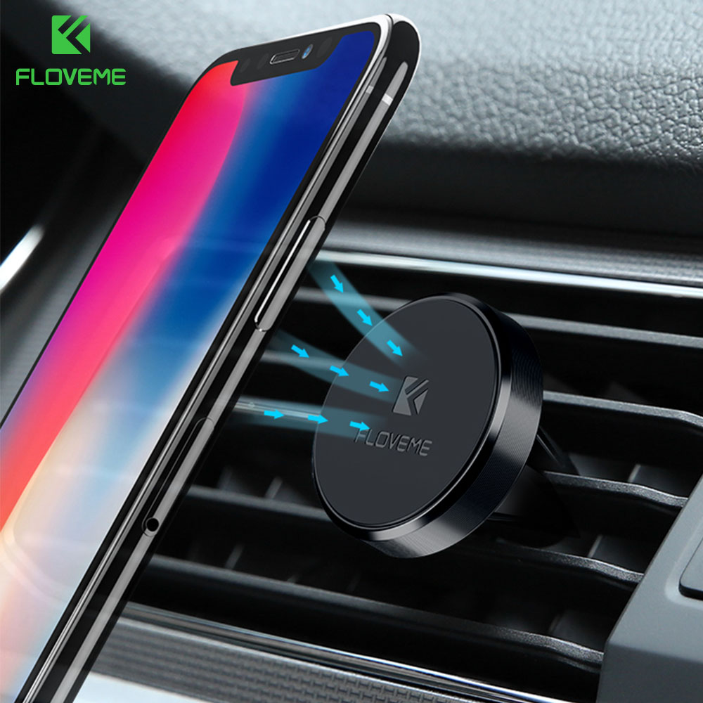 Will Not Block Air Vent Flow WixGear Universal Air Vent Twist Hole Magnetic Phone Holder for Car for Vertical and Horizontal Vent for All Cell Phones with Fast Swift-Snap Technology