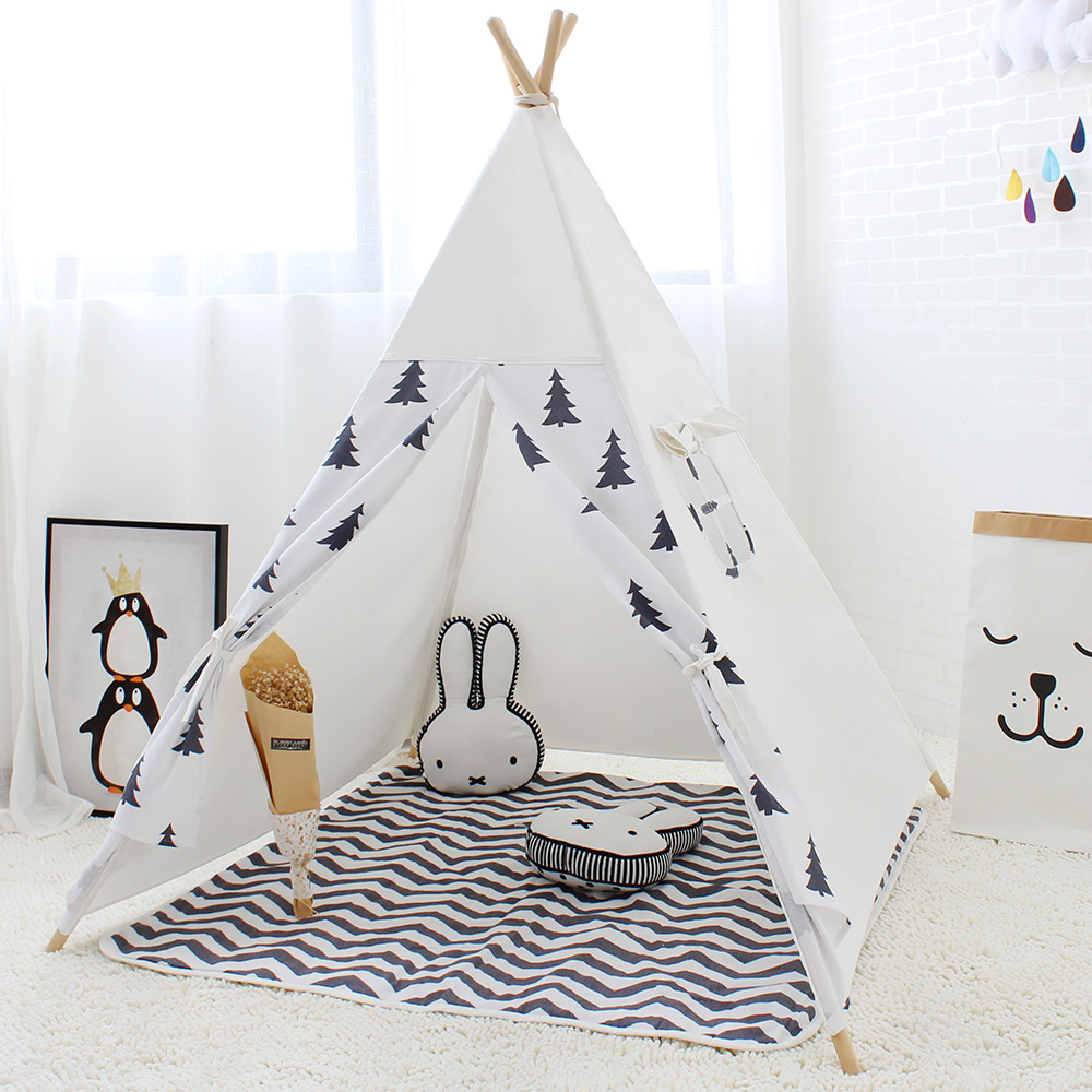 Tempting Kids Indian Style Wigwam Teepee Play Tent Children Game Tentbaby Cabin Princess Play Tent Children Game Kids Indian Style Wigwam Teepee