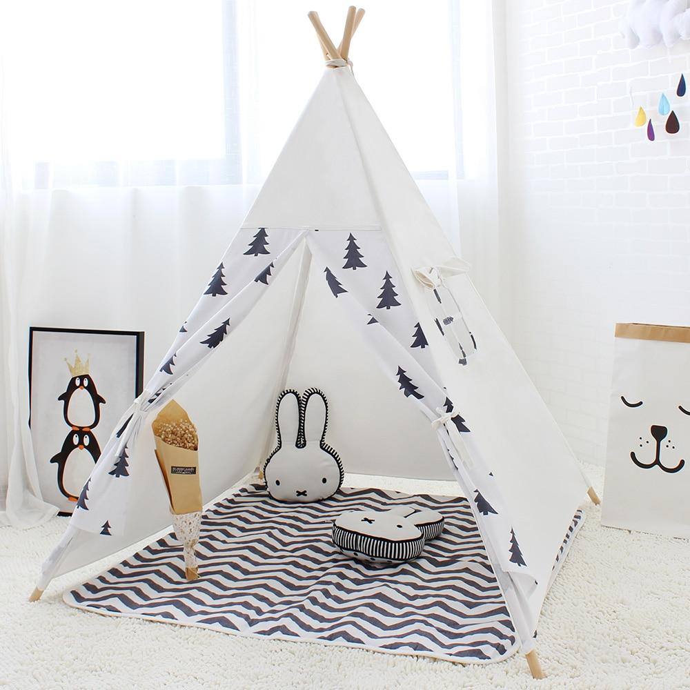 Stylized Kids Indian Style Wigwam Teepee Kids Indian Style Wigwam Teepee Children Game Play Tent Children Game Tentbaby Cabin Princess Play Tent baby Teepee For Kids