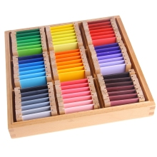 Montessori Sensorial Material Learning Color Tablet Box 1 2 3 Wood Preschool Training Kids Toy Gift