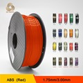 MakerBot/RepRap/UP/Mendel 20 cores Opcional 3d filamento impressão PLA/ABS 1.75mm/3mm 1 kg de plástico de Borracha de Materiais Consumíveis