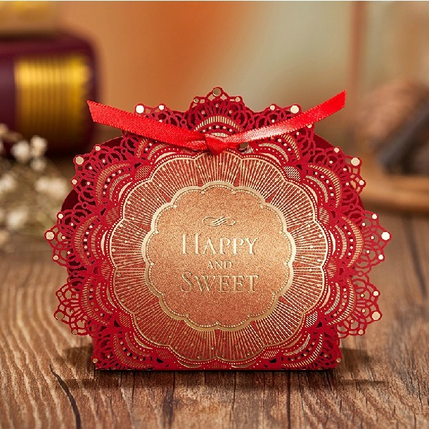 Red And Gold Wedding Favors Tbrb Info