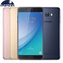 Оригинальный Samsung Galaxy C7 Pro C7010 4 Г LTE Мобильный телефон 5.7 »16MP 4 Г RAM 64 Г ROM Dual Sim Окта основные 3300 мАч Смартфон