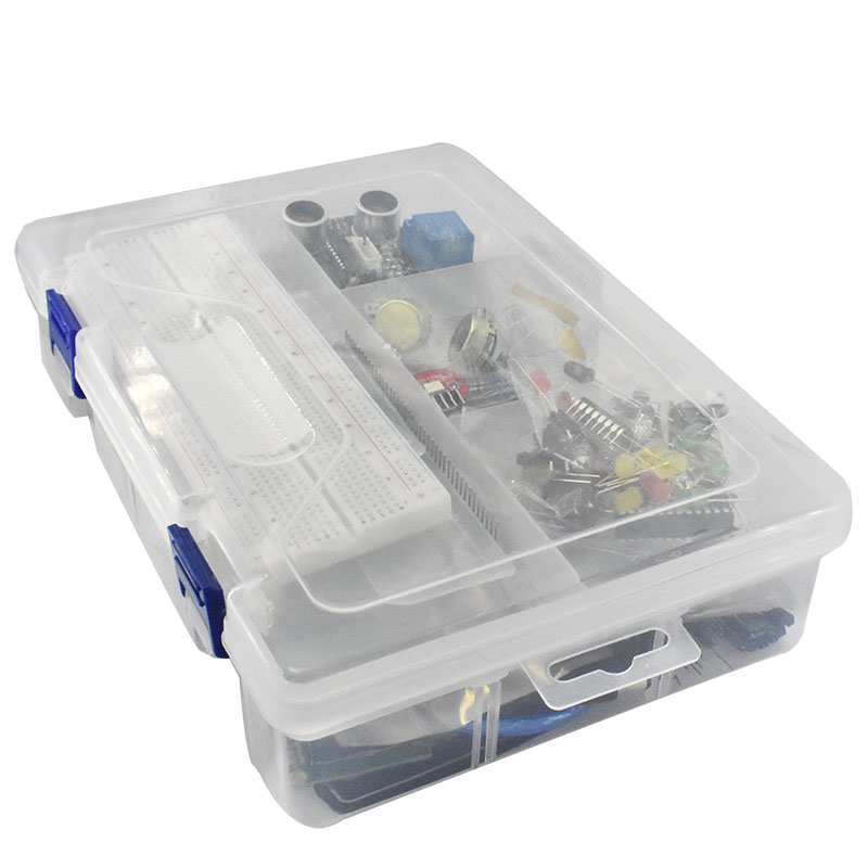Kit de démarrage pour arduino Uno R3-Uno R3 platine de prototypage et support moteur pas à pas/Servo/1602 LCD/fil de démarrage/UNO R3 - 3