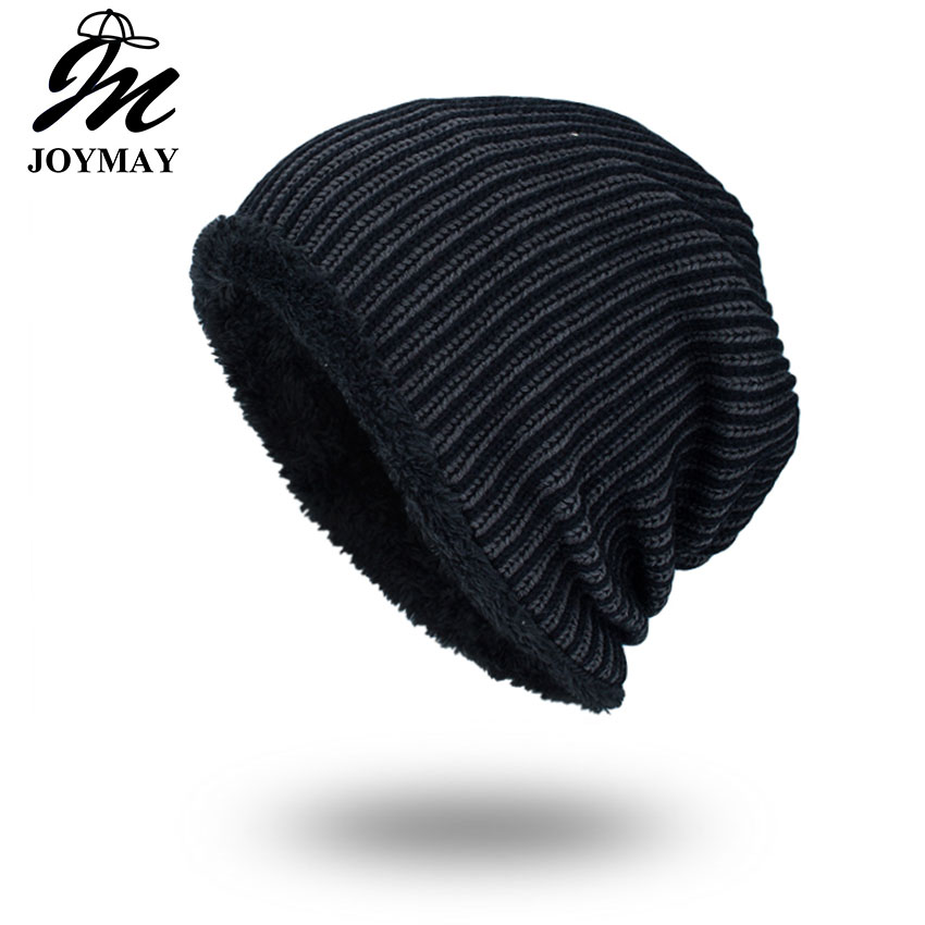 Joymay 2017 Brand New Winter Autumn Beanies Hat Unisex Warm Soft Skull Knitting Cap Hats Star Caps For Men Women WM063 the new 2016 han edition affixed cloth wave cap hat hat tip to keep warm letter knitting hat qiu dong men and women