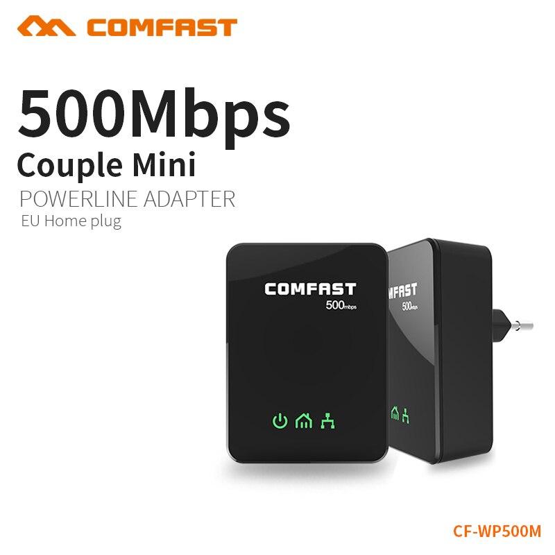 COMFAST 500 мбит/с Nano Мощность линии Adapter Kit HomePlug AV PLC с Ethernet Мощность линии локальной сети Extender PLC Адаптер для iPTV