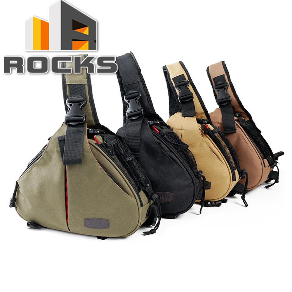 Camera Bag Case Triangle Shoulder Bag Video For Nikon Sony Canon 600D 5DII 750D 700D 5500D 7200D Sand / Army Green / Sand /Brown
