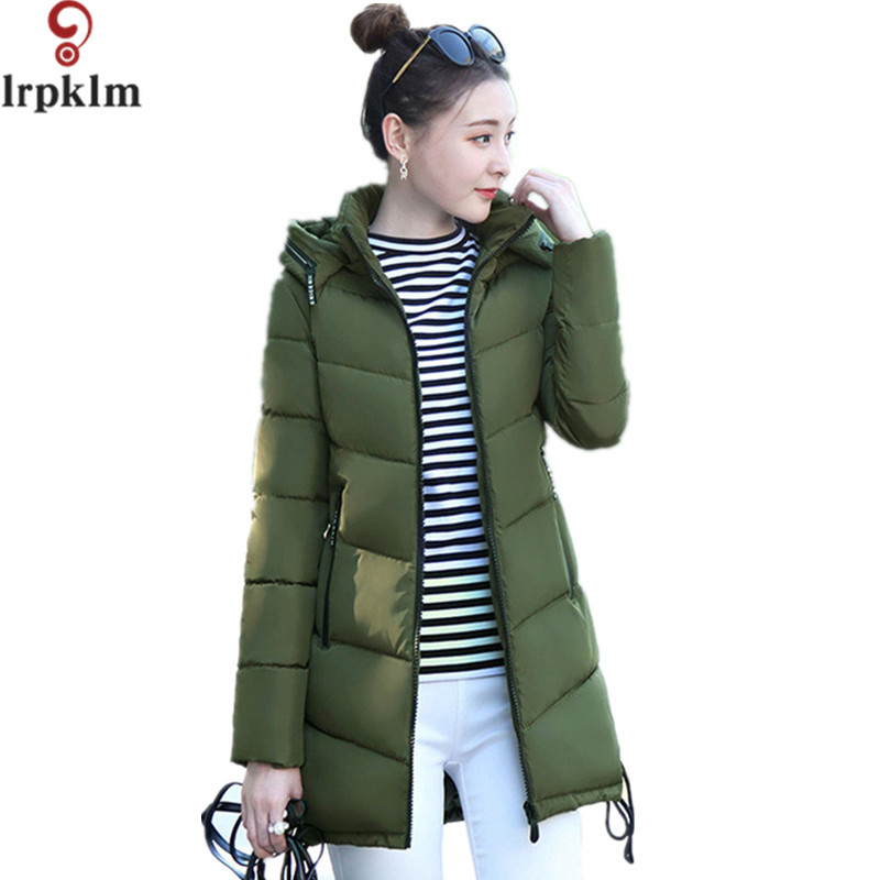 Women 2017 Warm Jacket Winter New Medium-Long Cotton Parka Plus Size 3XL Coat Slim Ladies Casual Clothing Hot Sale LZ205