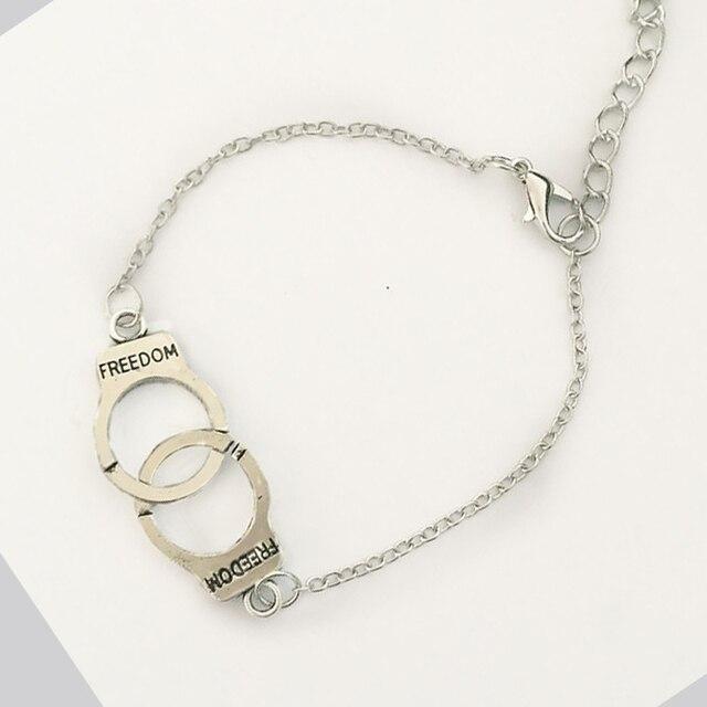 Neue Mode schmuck silber farbe Handschellen kette armband Frauen ...