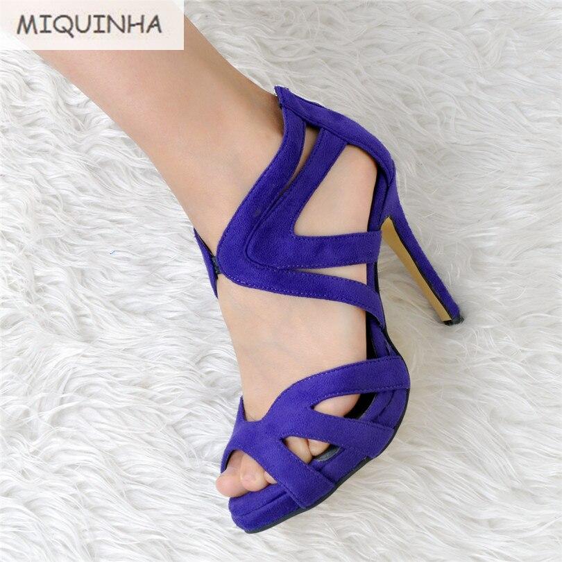 ФОТО 2017 New Style Designer Zapatillas Back Zipper Zapatos Mujer Sandalias Mujer Gladiator Shoes Women Sandals Women Plus Size 34-47