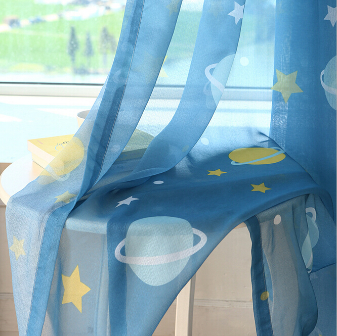 Universe star curtains for bedroom curtains for children blackout - Home Textile - Photo 5