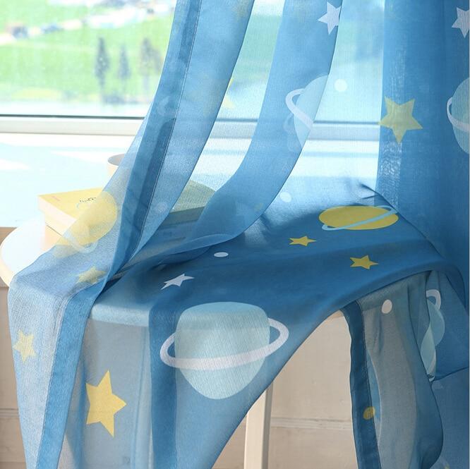 Evren yıldız çocuklar için yatak odası perdeleri için karartma - Ev Tekstili - Fotoğraf 5