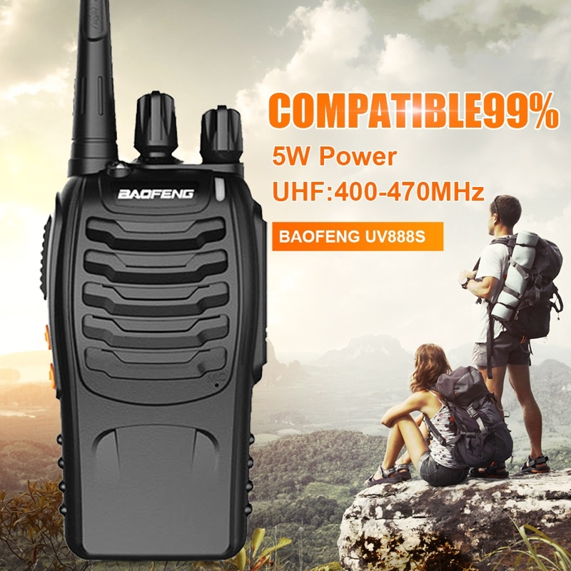 Image 2 - 3PCS Baofeng BF 888S Two Way Radio BF 888S 6km Walkie Talkie 5W Portable CB Ham Radio Handheld HF Transceiver Interphone bf888S-in Walkie Talkie from Cellphones & Telecommunications