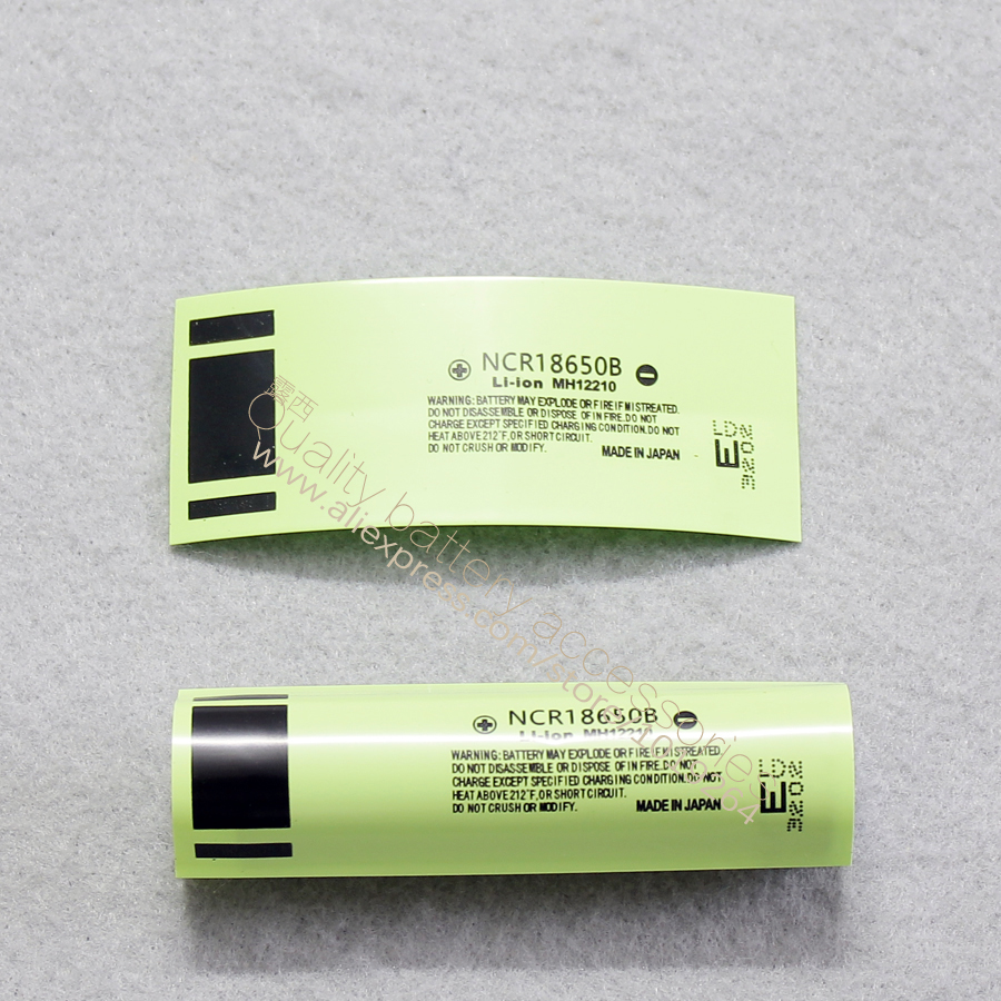 50pcs/lot 18650 Lithium Battery Package Casing Heat Shrinkable Casing Battery Cover Battery Skin PVC Thermal Film 3400MAH