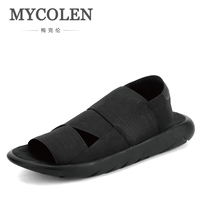 MYCOLEN New Arrival Sandals Sandals New Fashion Outdoor Men Slippers Open Toed Leather Sandals Men Sandals Slides Top Quality