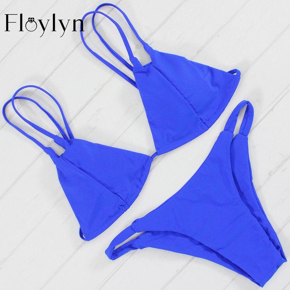 Floylyn Plavky Ženy Bikiny 2017 Propagační plavky Brazilské plážové oblečení Push Up Bikiny Set Maillot De Bain Nový design Biquini