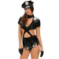 Hot Online Sale Ladies Police Cosplay Deguisement Adultes Woman Sexy Cop Outfit Halloween Police Costumes For