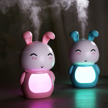 LED Night light cute Rabbit lamp 200ML USB Aroma Essential Oil Diffuser Cool Mist Humidifier Air Purifier for Office Home wholesale price cute lucky cat led light humidifier usb air diffuser purifier atomizer essential oil diffuser for office home