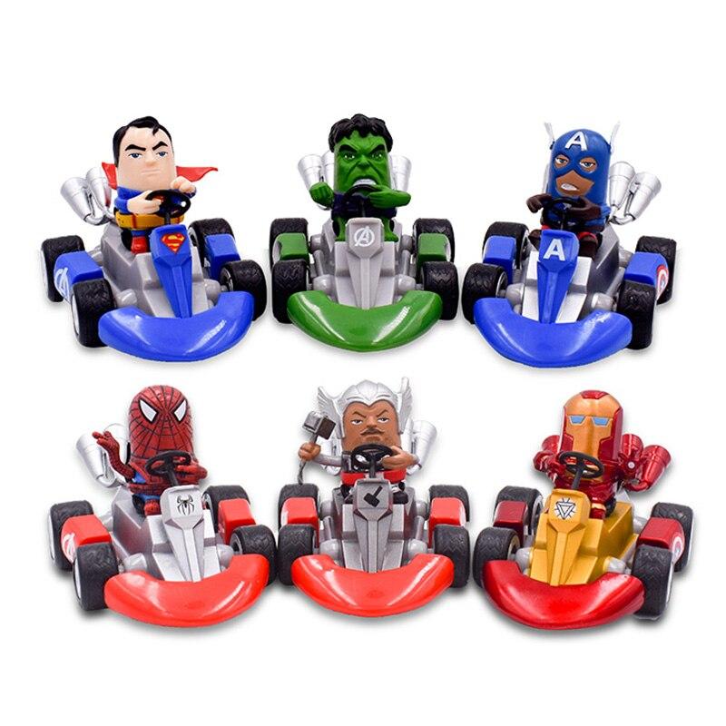7 cm 6 Styles film Anime Super héros Captain America Ironman Spiderman hulk thor Superher Figure poupée modèle de collection jouet