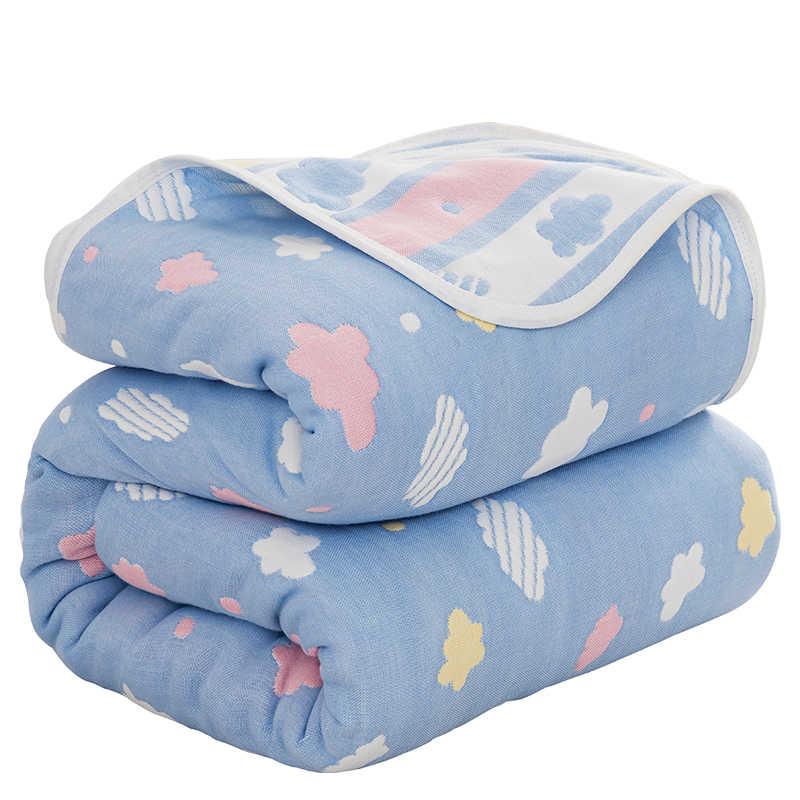 6 capas de dibujos animados bebé manta recién nacido muselina algodón Swaddling cuatro estaciones bebé toalla manta ropa de cama infantil mantas de recepción