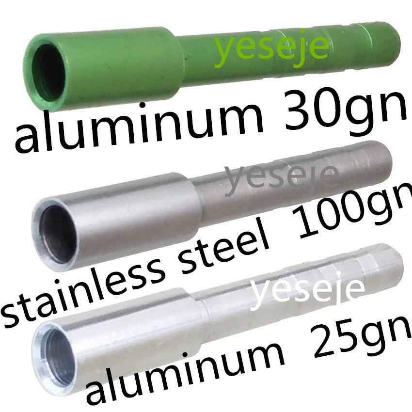 24 sztuk aluminium. Ze stali nierdzewnej 5.2mm średnica wału z broadheady headarrows do polowania kompozytowych łuki