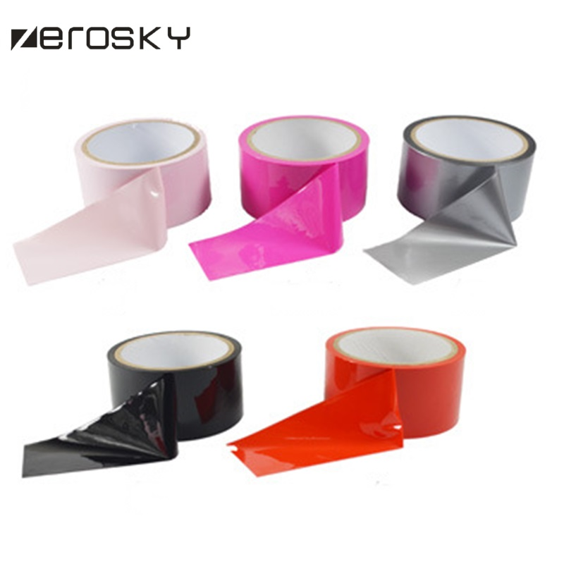 Zerosky Incoherent Static Adult Bondage Plastic Tape Restraints Sex Flirting Toys For Couples In Role Play Adult Fun Games
