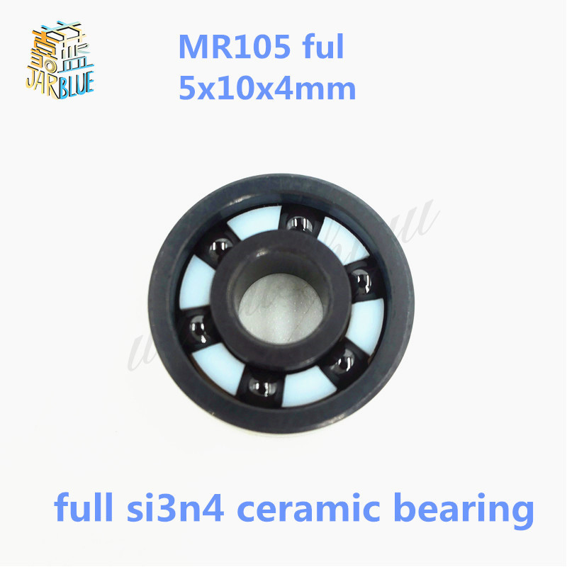 Free shipping high quality MR105 full SI3N4 ceramic deep groove ball bearing 5x10x4mm  цена и фото