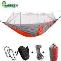 1-2 Person 260*140 cm Camping Hängematte Im Freien Moskito Bug Net Tragbare Parachute Nylon Hängematte für Schlaf reise Wandern
