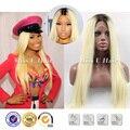 Прямые черные блондинка ломбер парик Nicki Minaj длинные светлые парик знаменитости афро американский парики