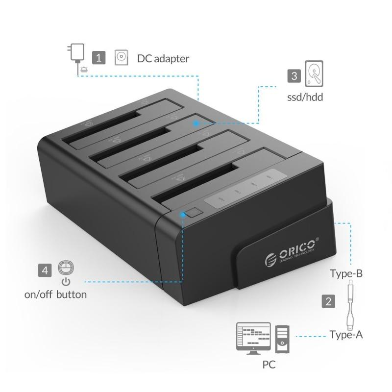 ORICO USB 3.0 to SATA 4 Bay გარე HDD - შემნახველი წყაროები - ფოტო 2
