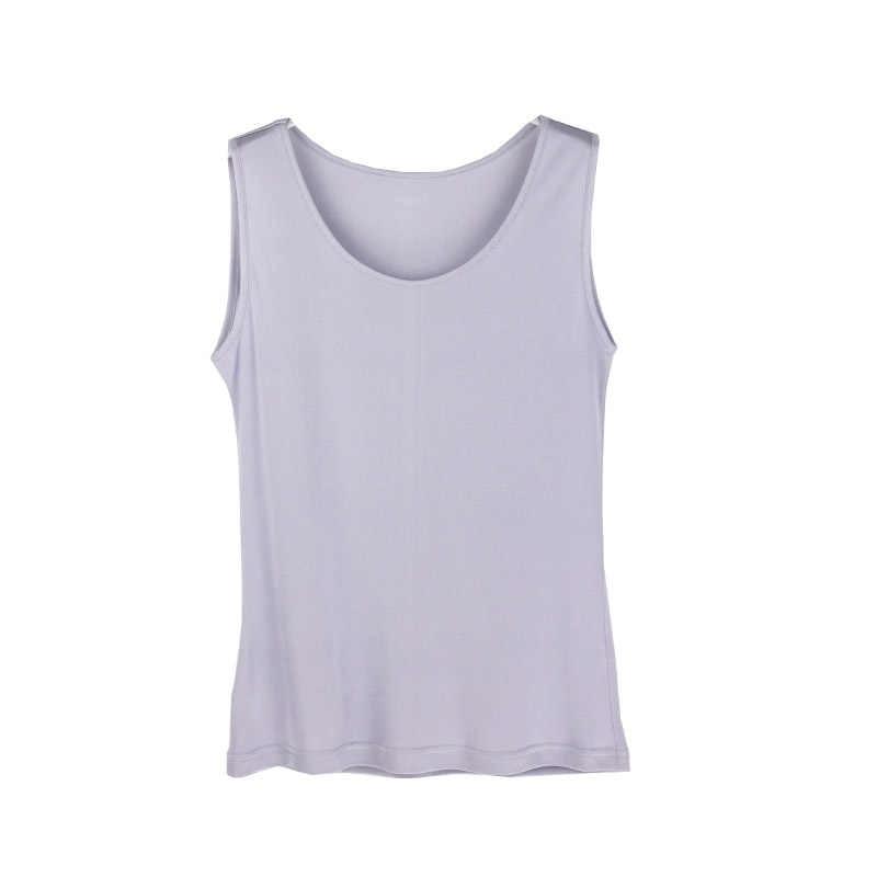 여성 탱크 100% 리얼 실크 솔리드 베이직 조끼 o 넥 탱크 탑 민소매 bottoming shirt 2019 summer new tops 블랙 화이트 그레이