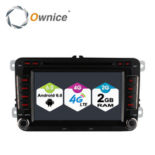 Ownice C500 4 Core Android 6.0 2G RAM radio 2 din car dvd player for Volkswagen passat jetta polo golf GPS Stereo 4G LTE Network