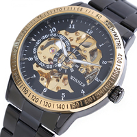 2017 New Winner Luxury Sport Clock Men Automatic Watch Skeleton Military Mechanical Watch Relogio Male Montre